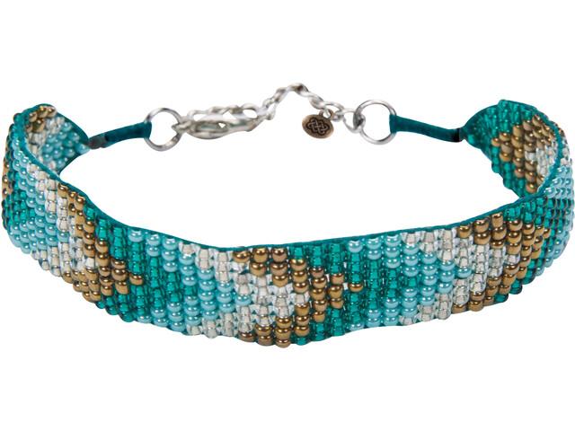 Sherpa Mayalu Chevron Bracelet Femme, rathna green
